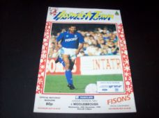 Ipswich Town v Middlesbrough, 1990/91